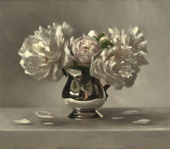Peonies in Silver