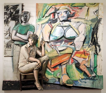 Bill and Elaine de Kooning and 'Woman I'