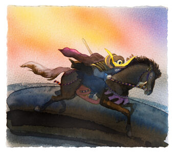 The Third Knight Galloped At Full Speed Away Across The Plains