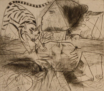 Untitled (Lady with Cat)