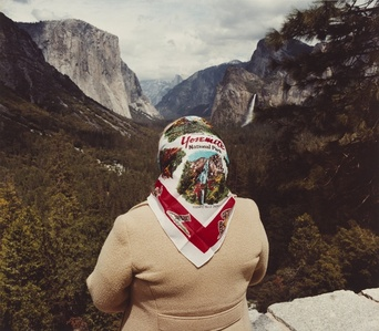 Woman with Scarf at Inspiration Point, Yosemite National Park