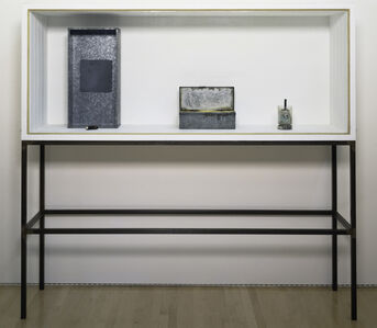 Untitled (Vitrine with Four Objects/Plateau Central)