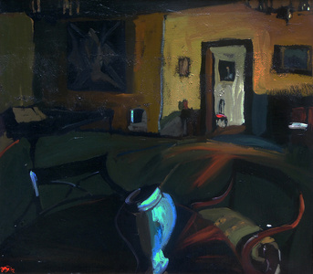 Interior with Blue Vase