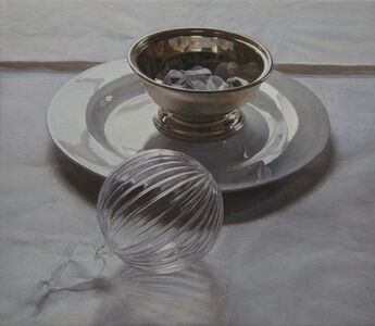 Glass Ball and Silver Bowl