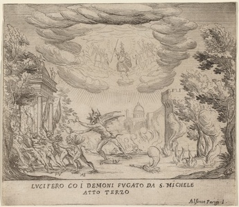 Lucifer and Demons Fleeing Saint Michael