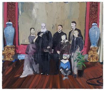 A família imperial em interior exótico