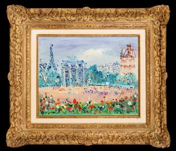 Le Jardin des Tuileries et l'Arc de Triomphe du Carrousel