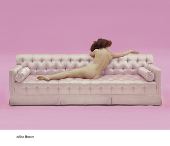 Arline Hunter Pink Couch