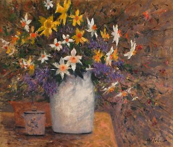 Spring Flowers (Daffodils & Quaker Ladies)