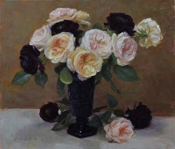 Charity Roses and Purple Ranunculas