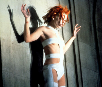 Milla Jovovich as Leeloo in Luc Besson's 1997 film The Fifth Element