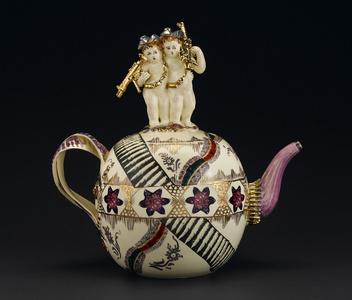 Globular Chintz Teapot