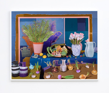 Still Life with Vegetables and Tulips