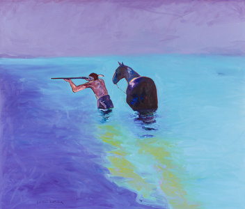 Indian and Horse in the Water