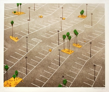Parking Lot with Palm Trees