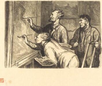 Exposition de peinture de 1868 - Le Dernier coup de pinceau