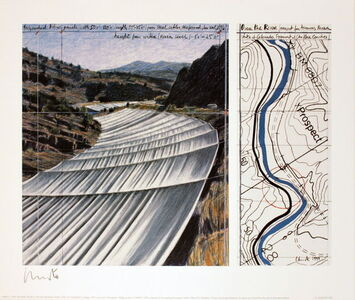 Over the River, project for the Arkansas River (signed)