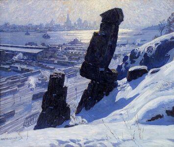 Railroad Yards, Winter, Weehawken.