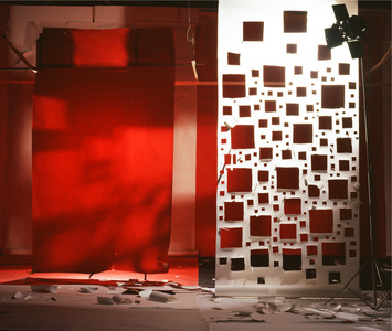 (No. 788) Red with Light from Holes in White