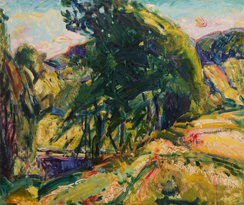 Landscape (with Green Tree)