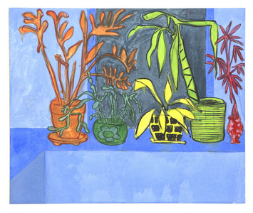 Houseplants (blue)