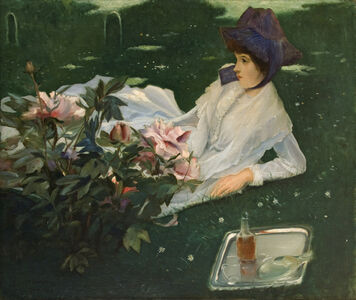 Henriette Chabot with Peonies