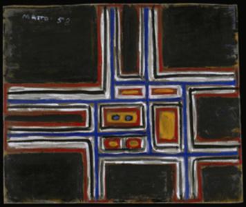 Composición sobre fondo negro [Composition on Black Background]