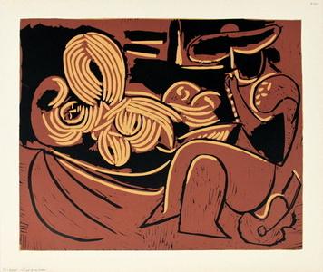 Femme Couchee et Homme a la Guitare