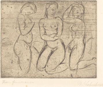 Three Kneeling Women (Drei Frauen knied)