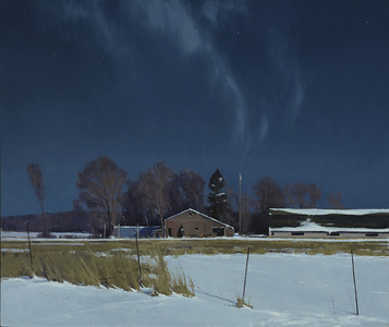 Sauk Rapids Farm by Moonlight