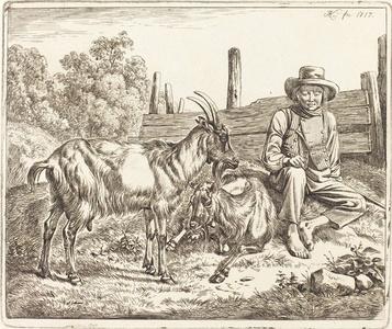 Shepherd Boy with Two Goats