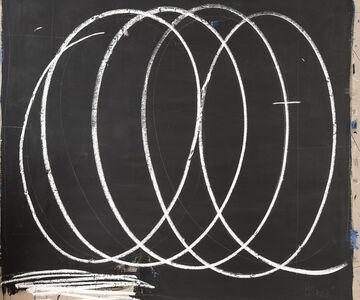 Black with Large White Swirls