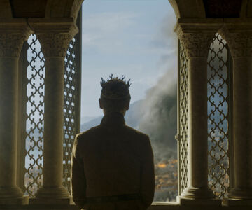Tommen at the window