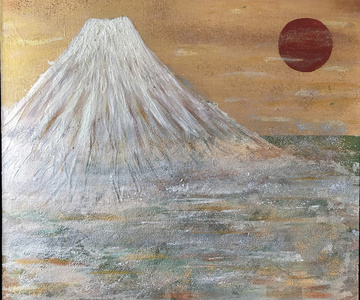Fuji & the Red Moon