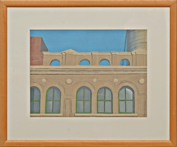 VIEW: ARCADE (Framed with Fischbach and Kornblee Gallery Labels)