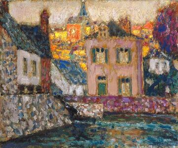 Study for Houses on the River at Fougères