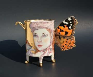 Painted Lady Butterfly Cup