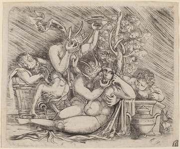 Bacchanalian Scene with Satyrs and a Maenad