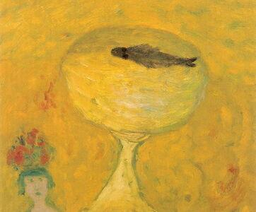 Meisje met viskom (girl with fishbowl)