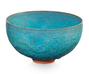 Small bowl, turquoise crystalline glaze, Los Angeles, CA