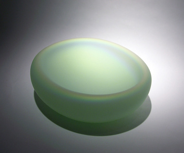 IRIDESCENT BOWL - SMALL MINT GREEN
