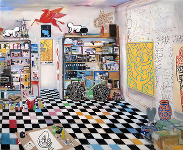 Keith Haring's Studio (New York, 1990)