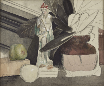 Figure with Apple and Vase