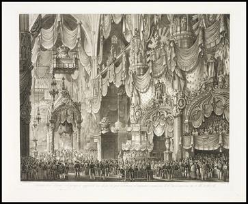 Incoronazione di S. M. I. R. A. Ferdinando I. a re del regno lombardo-veneto con sacra solenne pompa celebrata nell' insigne Metropna.. di Milano il VI settre.. MDCCCXXXVIII, descritta e rappresentata dall' architetto-pittore scenico Alessandro Sanquirico...