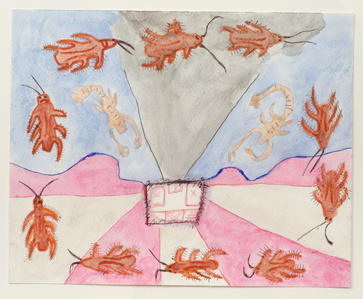 Untitled (Insects on Pink, Gray and Blue)