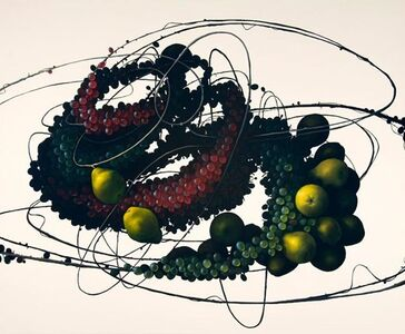 Still Life with Pear and Grape II