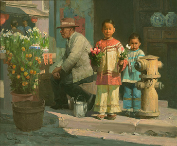 Flower Girl in Chinatown, San Francisco, 1905