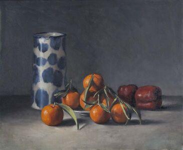 Mandarins and Blue Jug