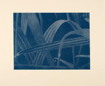 Gräser I (Detail 2), Blau