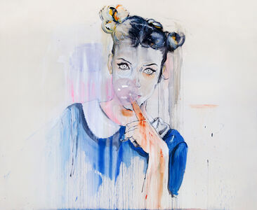 Girl with a Pink Bubble